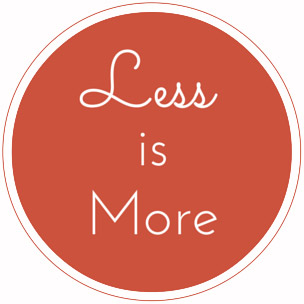 Less is more - Stamp